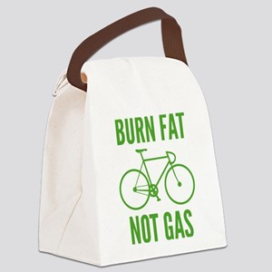 Burn Fat Not Gas Canvas Lunch Bag