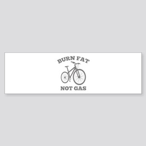 Burn Fat Not Gas Sticker (Bumper)