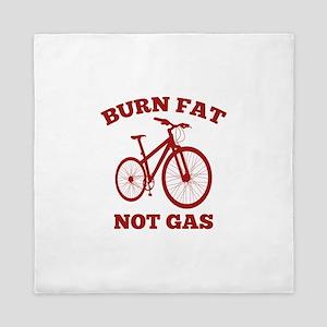 Burn Fat Not Gas Queen Duvet
