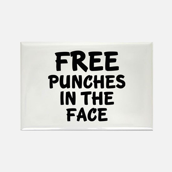 Free Punches In The Face Rectangle Magnet