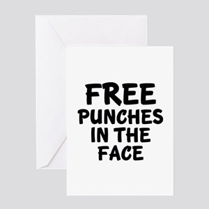 Free Punches In The Face Greeting Card