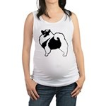 Keeshond Graphics Maternity Tank Top