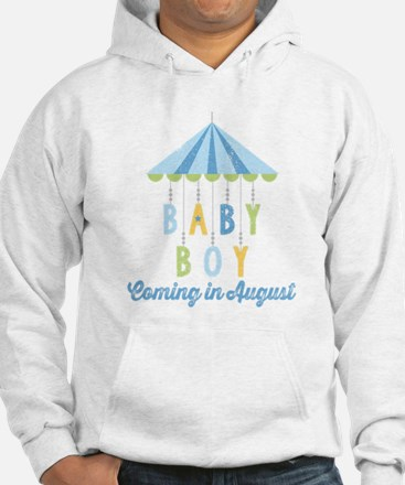 Baby Boy Due in August Hoodie