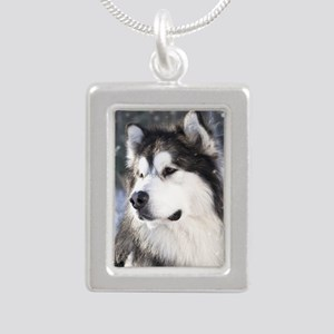 Call of the Wild Silver Portrait Necklace