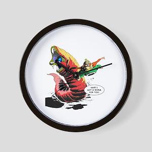 Crypto-Man & Death Worm Wall Clock