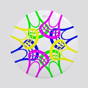 Lacrosse Neon Heads Ornament (Round)