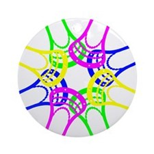 Lacrosse Neon Heads Ornament (Round)