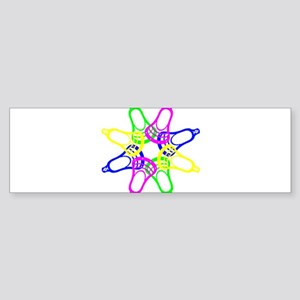 Lacrosse Neon Heads Bumper Sticker
