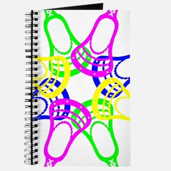 Lacrosse Neon Heads Journal