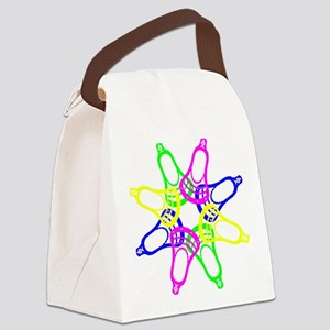 Lacrosse Neon Heads Canvas Lunch Bag
