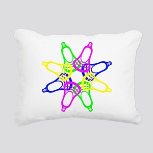 Lacrosse Neon Heads Rectangular Canvas Pillow