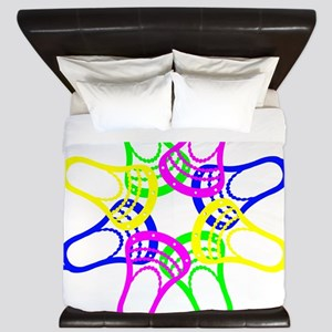 Lacrosse Neon Heads King Duvet