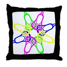 Lacrosse Neon Heads Throw Pillow