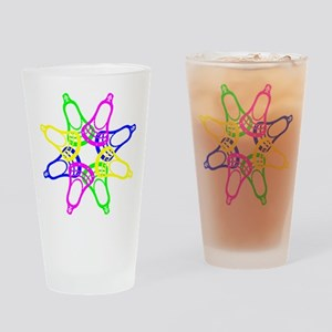 Lacrosse Neon Heads Drinking Glass