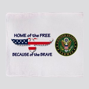 USArmy Home of the Free Throw Blanket