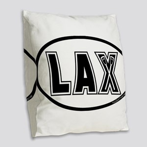 Lacrosse_Designs_Oval_600 Burlap Throw Pillow