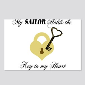 Sailor Key to my Heart Postcards (Package of 8)