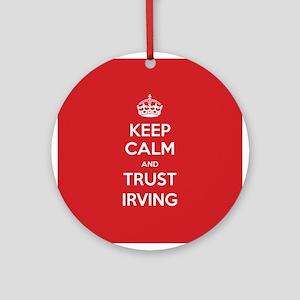 Trust Irving Ornament (Round)