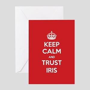 Trust Iris Greeting Cards