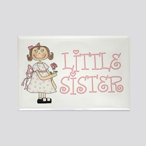 Sweet Sis Little Sister Rectangle Magnet