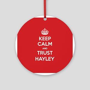 Trust Hayley Ornament (Round)
