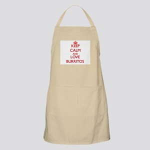 Keep calm and love Burritos Apron