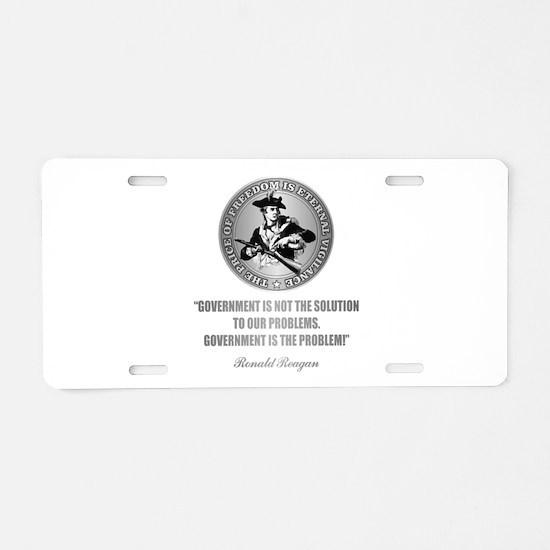 (Patriot) Government is the Problem Aluminum Licen