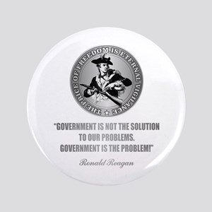 """(Patriot) Government is the Problem 3.5"""" Button"""