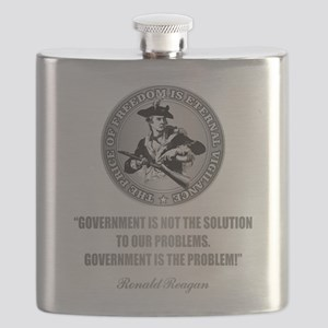 (Patriot) Government is the Problem Flask