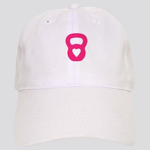 Pink Kettlebell with Heart Baseball Cap