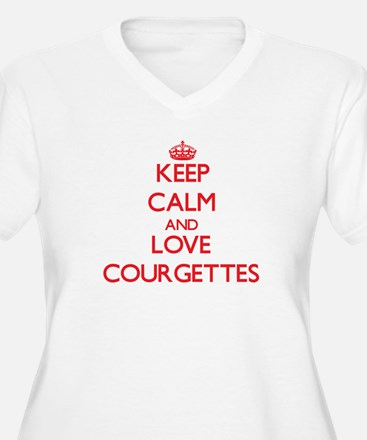 Keep calm and love Courgettes Plus Size T-Shirt