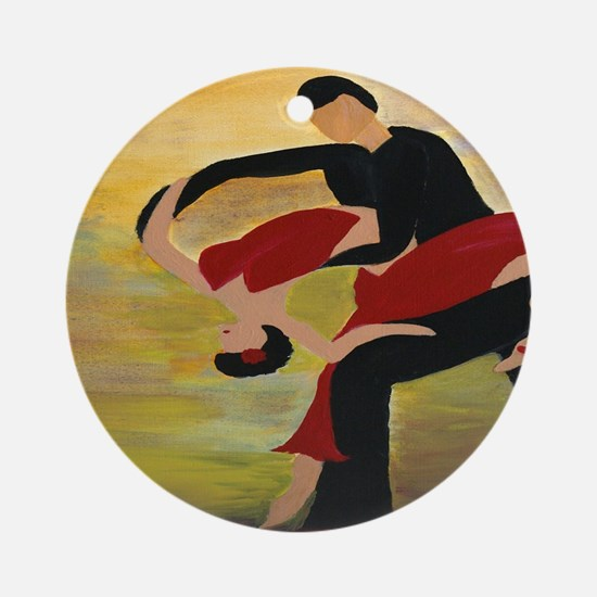 Ballroom Dancers Round Ornament