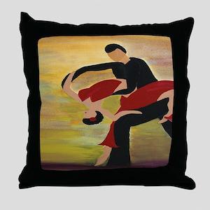 Ballroom Dancers Throw Pillow