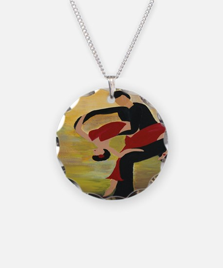 Ballroom Dancers Necklace