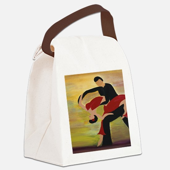 Ballroom Dancers Canvas Lunch Bag