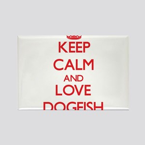 Keep calm and love Dogfish Magnets