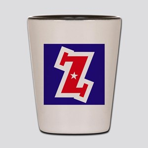 Patriotic Monogram Z Shot Glass