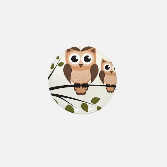 Brown Owl Duo Mini Button