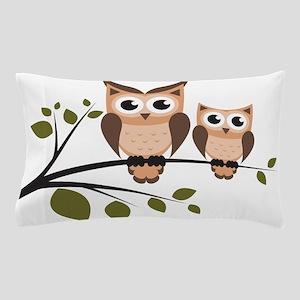 Brown Owl Duo Pillow Case