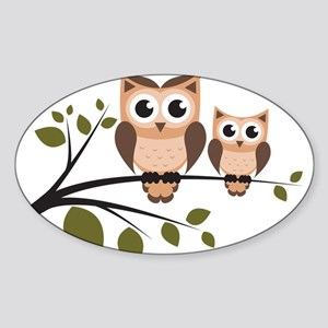 Brown Owl Duo Sticker
