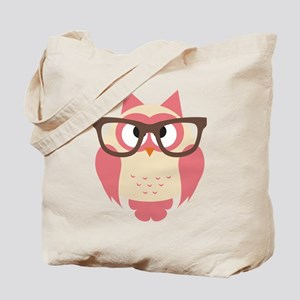 Owl with Glasses Tote Bag