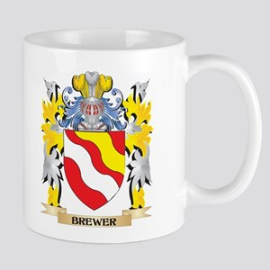 Brewer Coat of Arms - Family Crest Mugs