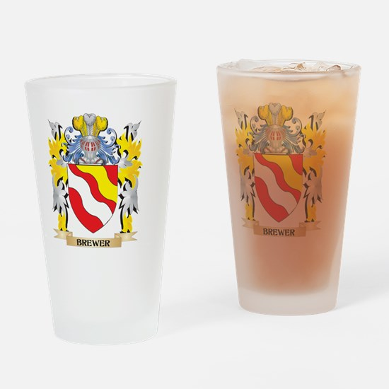 Brewer Coat of Arms - Family Crest Drinking Glass