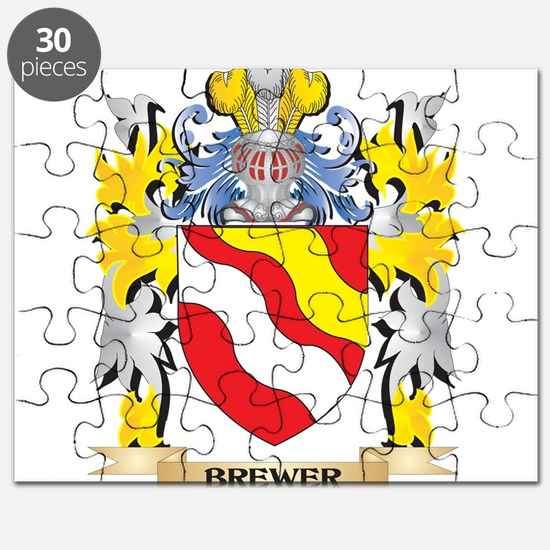 Brewer Coat of Arms - Family Crest Puzzle