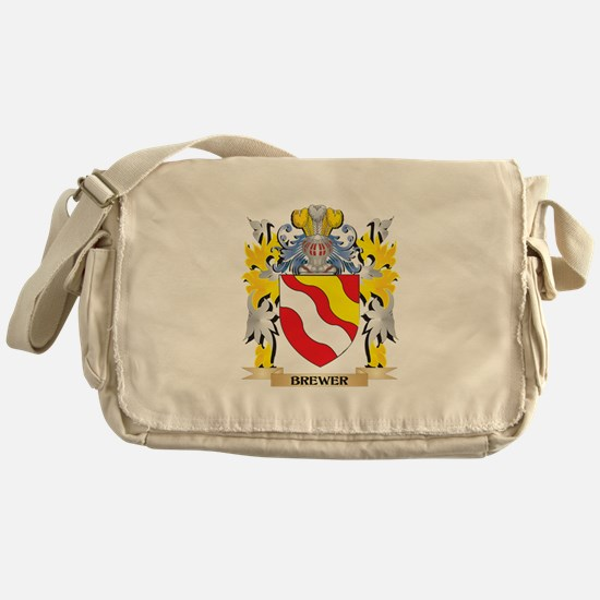 Brewer Coat of Arms - Family Crest Messenger Bag
