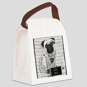 "Pug Shot ""The Pug Life"" Canvas Lunch Bag"