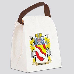 Brewer Coat of Arms - Family Cres Canvas Lunch Bag