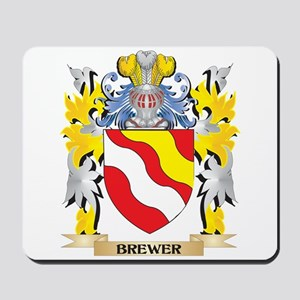 Brewer Coat of Arms - Family Crest Mousepad