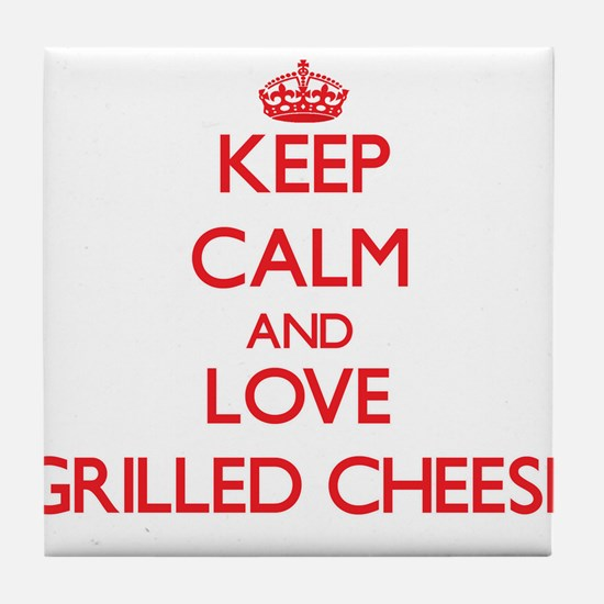 Keep calm and love Grilled Cheese Tile Coaster