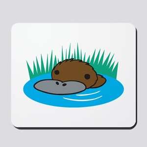 Silly Platypus in the Water Mousepad